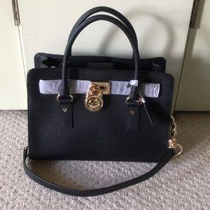 New Michael Kors Hamilton large black tote bag
